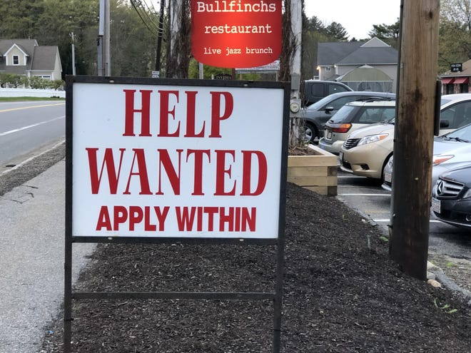 Massachusetts' unemployment rate fell more than 2 percentage points last month, to 7.4%, but a smaller labor force suggests the job market is in tougher shape than first glance.