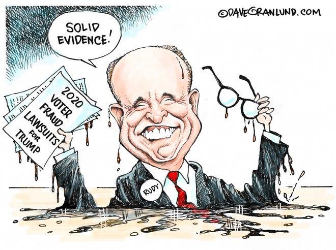Dave Granlund cartoon on Rudy meltdown