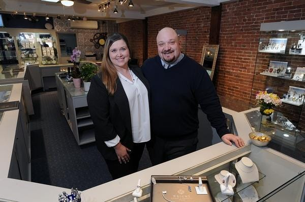 Justin and Jenna Beit, owners of Wright Jewelry in Hudson, say they hope to attract customers to shop at their Main Street jewelry store on Small Business Saturday.