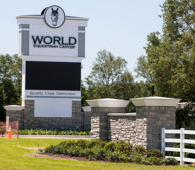One of the entrances to the massive World Equestrian Center is shown in this file photo. The facility will hold its first horse show starting on Dec. 13. The show will feature up to 1,500 Western pleasure and hunter under saddle competitors.