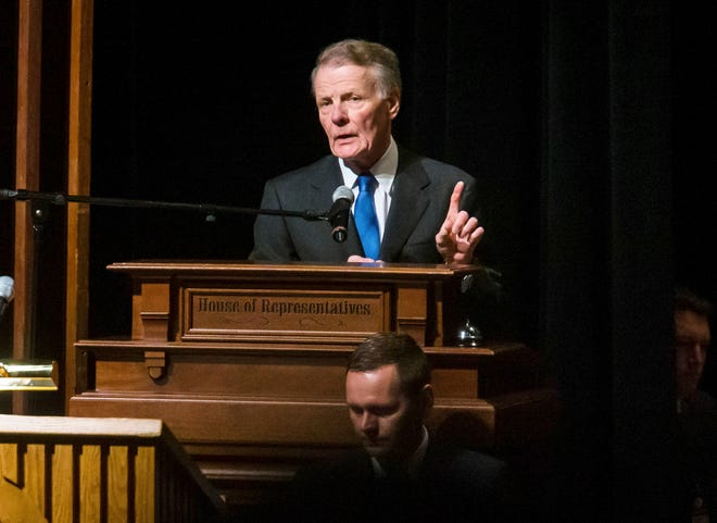 Four people, including an associate of Illinois Speaker of the House Michael Madigan, D-Chicago, above, have been charged with orchestrating a bribery scheme with Commonwealth Edison.