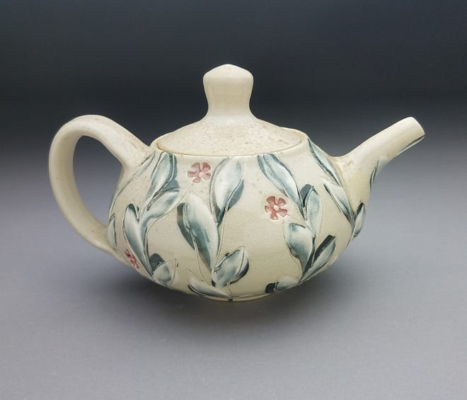 A wood-fired teapot by artist Maureen Mills is an example of what you can find on the Portsmouth Holiday Arts Tour in-person and online Nov. 21 and 22.