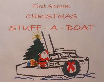 """A """"stuff a lobster boat"""" event will be held in Kittery on Dec. 5."""