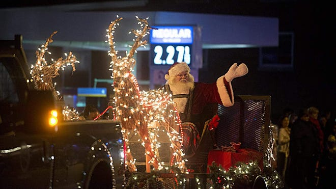 Santa makes his way through York Village during the Festival of Lights Parade in 2015. A modified version of the parade that had been in the works for 2020 was canceled due to a low number of participating floats amid the COVID-19 pandemic, but the York Parks and Recreation Department still has a full lineup of coronavirus-conscious holiday events on the calendar.