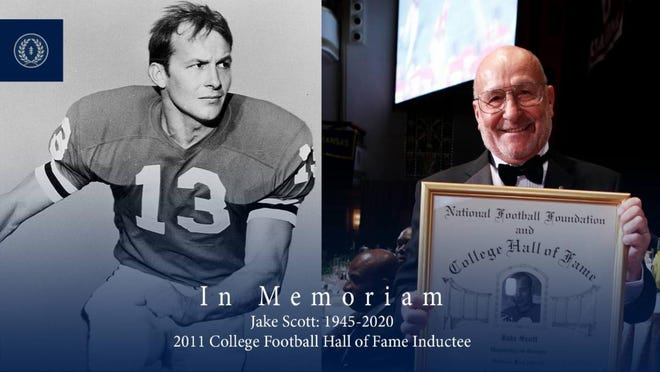 Former Dolphin Jake Scott was enshrined into the College Football Hall of Fame in 2011.