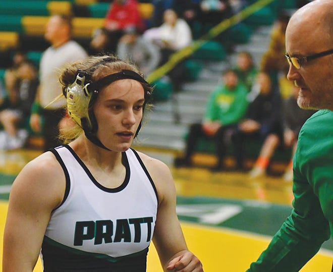 Pratt High School wrestler Payton Woody will provide senior leadership this year for the Lady Greenbacks.
