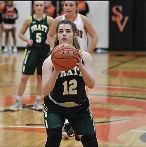 Rachel Rasmussen, #12, is a returning senior leader for the 2020 Pratt Lady Greenback basketball team.