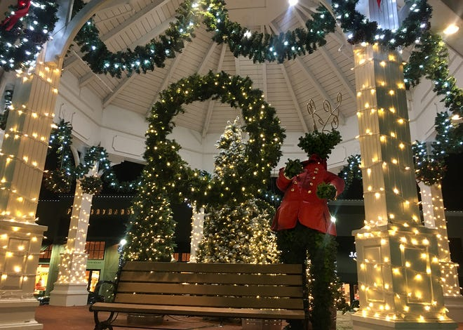 Garden City Center in Cranston is dressed up for the holidays, but without a visit from Santa this year.