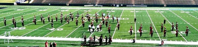 The Ballinger Bearcats Band performs at the UIL Area Competition.