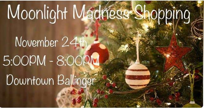 Moonlight Madness kicks off at 5 p.m. on Tuesday, November 24.