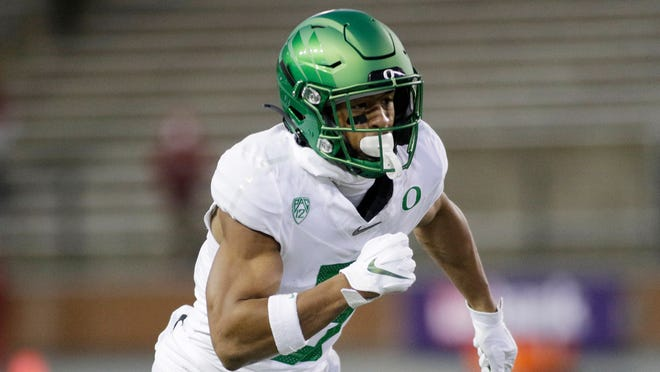 Wide receiver Johnny Johnson is part of Oregon's offense, which leads the Pac-12 in scoring at 39 points per game.
