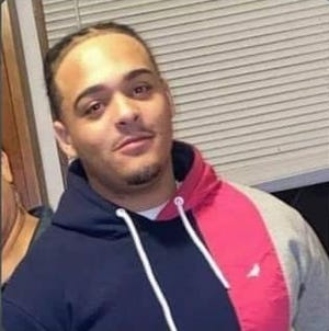 Tyris Jones, pictured in this undated photo, was shot by a police officer in October. Jones is now wanted on first-degree murder charges.