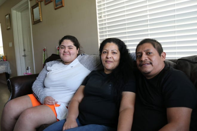 Kimberly Zamora, 17, her mother Maria Ruiz, 46, and her stepfather Mariano Perez, 36, were helped through Season of Sharing with their rent in September. Perez contracted COVID-19 in May and spent three months in the hospital.