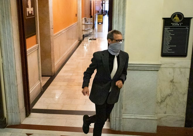 Sen. Will Brownsberger sped down the corridor as he ran back to the Senate Chamber during a roll call Wednesday to cast his vote for the much-debated abortion access amendment to this year's budget.