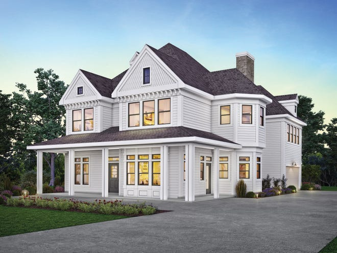 This classic design gives you storybook curb appeal with a wraparound porch and decorative wood details.