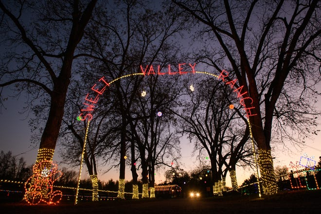 Sweet Valley Ranch, home to camels, zebras and other animals, is hosting its first festival of lights this year.