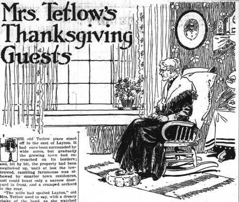 Thanksgiving story published at the height of the Great Influenza in 1918.