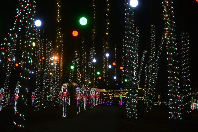 Millions of lights will be on display at Christmas at the Falls, which begins Thanksgiving night at Noccalula Falls Park.