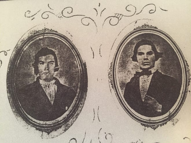Tobias J. Miller (left) and his brother Stephen died in combat on the same day in 1863 during the Civil War.
