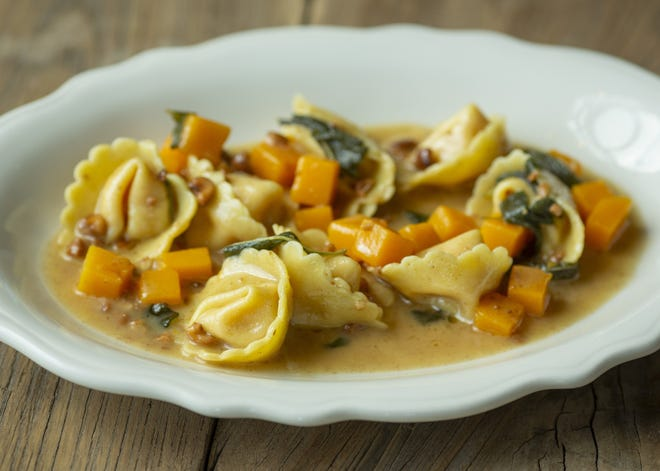 Fall squash cappellacci with sage brown butter and toasted hazelnuts from chef Matthew Phelan was on the menu Nov. 17 at the Novella Osteria restaurant in Powell.