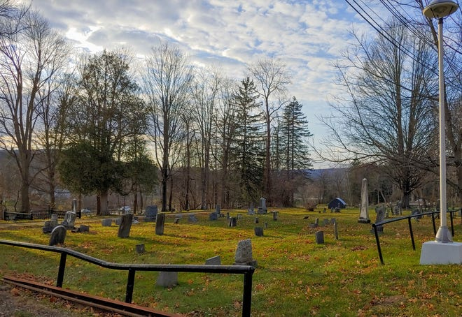Johnson Cemetery in Wellsville sits behind Jones Memorial Hospital.