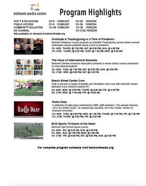 Belmont Media Center Program Highlights