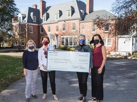 Rockland Trust Charitable Foundation presented a grant totaling $30,000 to NVNA and Hospice. Pictured from left are Susan Daileader, Rockland Trust, vice president, financial consultant and NVNA & Hospice advisory financial consultant; Renee McInnes, NVNA & Hospice, CEO; Jeanne Travers, Rockland Trust Charitable Foundation; and Nancy Bailey, Rockland Trust, first vice president, commercial banking division and NVNA & Hospice Charitable Fund board of trustees member.