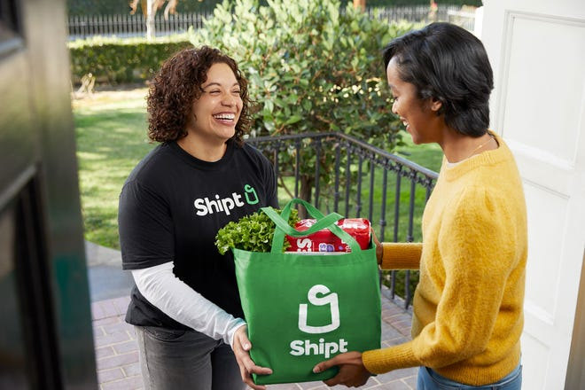 Shipt is a shopping service where you can order groceries and have them delivered to your door.