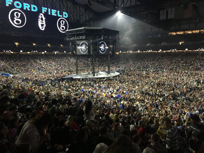 More than 70,000 people packed Ford Field on Feb. 22, 2020, ahead of Garth Brooks' concert.