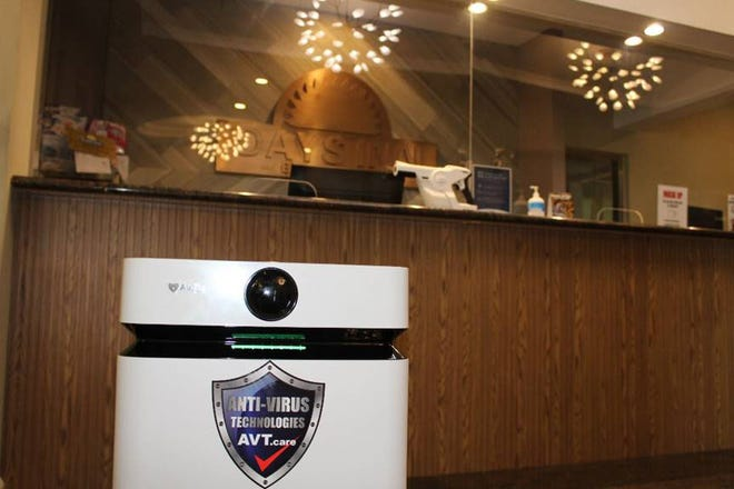 AirDog is purifying the lobby air in the Days Inn by Wyndham Guam.