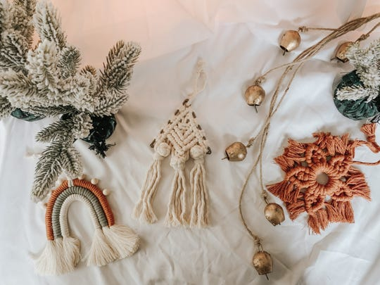 A collection of handmade ornaments from Humbld