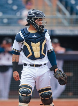 Top catching prospect Mario Feliciano was added to the Brewers' 40-man roster Friday to protect him from the Rule 5 draft.