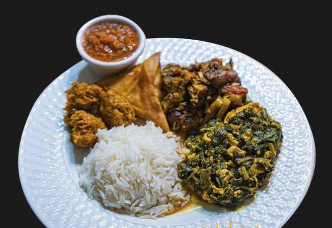 Immy's African Cuisine, a takeout restaurant at 8103 W. Tower Ave. on the northwest side, offers combination plates. They include meat or vegetable sambusa and bajia, a kind of potato croquette.