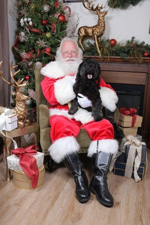Santa will start seeing visitors, including pets on a leash, on Black Friday at The Shoppes at EastChase. The Whimsical Wonderland is located near the fountain and appointments are encouraged, although walk-up visitors are welcome.