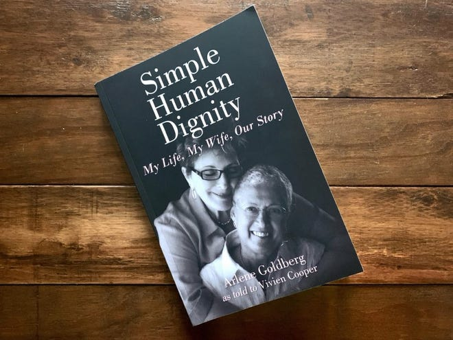 "The cover of ""Simple Human Dignity"" by Arlene Goldberg as told to Vivien Cooper."
