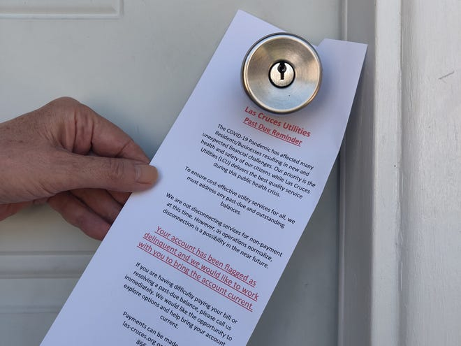 It's not a note a customer wants to see on their door, but it is an active effort that Las Cruces Utilities takes to try and start the conversation about customers paying down payment debt that may have accrued. Give LCU Customer Central a call at 575-541-2111 to find out options for payment.