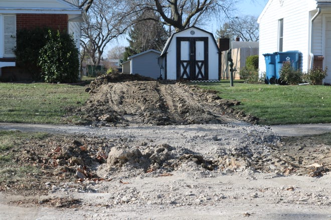 Port Clinton Mayor Mike Snider pointed to the collapsed sewer lines recently discovered along Lee Avenue, pictured here Friday, as a direct example of the urgent need to address the city's aging infrastructure.