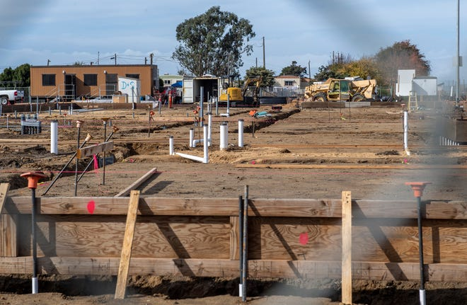 The construction site of the new Hartnell College Castroville Education Center in Castroville, Calif., on Wednesday, Nov. 18, 2020.