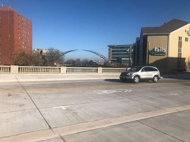 The Eighth Street Bridge in downtown Sioux Falls is open to traffic.