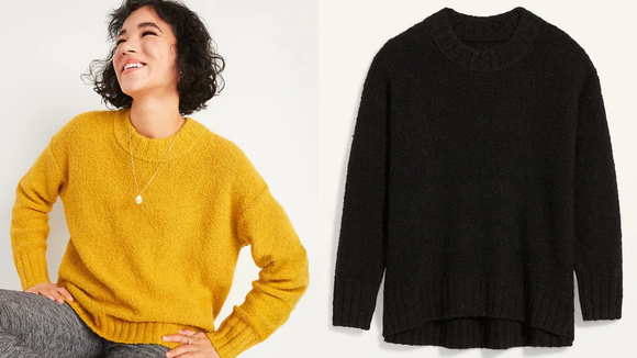 You can never have too many black sweaters.