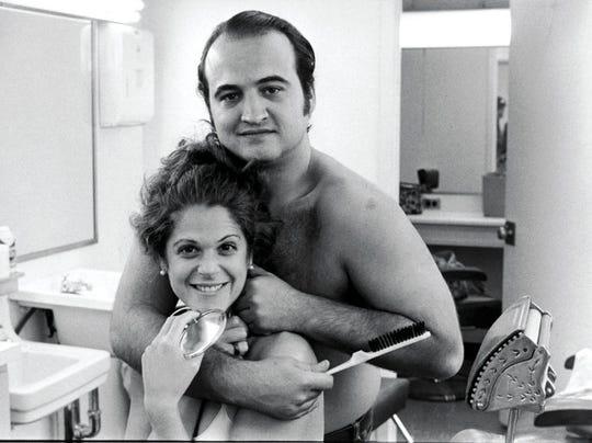 Gilda Radner, left, and John Belushi were members of the original cast