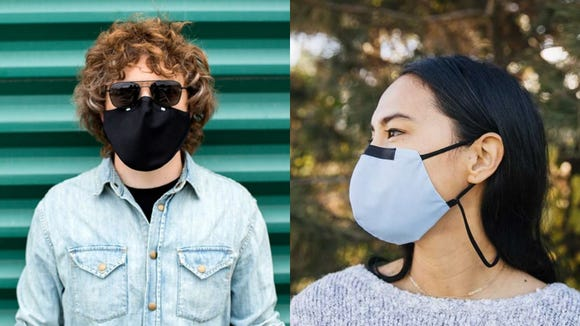This mask has two layers to protect your face.