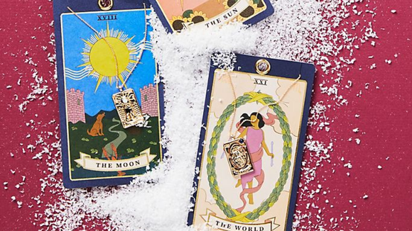 Best gifts from Anthropologie: Tarot Card Pendant