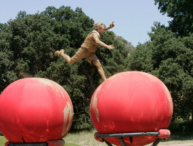 "Human cannonballs! Human pinballs! Crashes, smashes and mud splashes! Twenty-four thrill-seekers will compete in the world's largest extreme obstacle course designed to provide the most spills, face plants and wipeouts ever seen on television in ""Wipeout."""