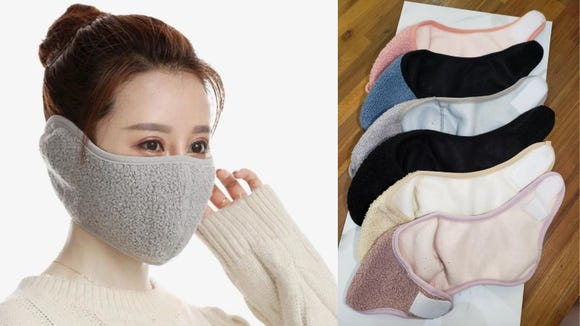 This will keep your face and mask warm.
