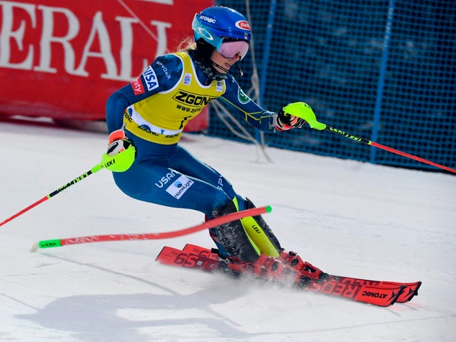 The 25-year-old Mikaela Shiffrin had wondered whether she wanted to continue her ski racing career, but after Saturday's race she sounded optimistic.