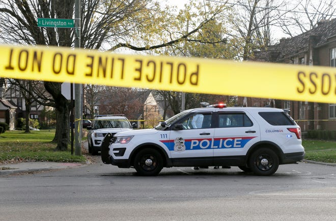 East Livingston Avenue was closed from College Avenue to James Road after an officer-involved shooting involving two detectives on Friday afternoon.