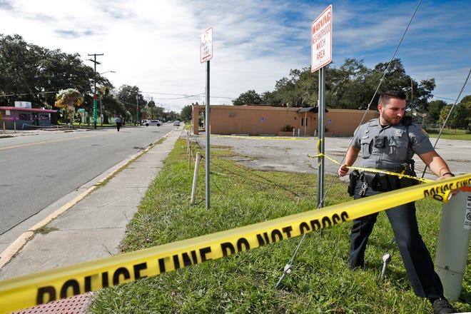 Daytona Beach Police investigate a shooting in the 700 block of Mary McLeod Bethune Boulevard in Daytona Beach, Saturday, Nov. 21, 2020.
