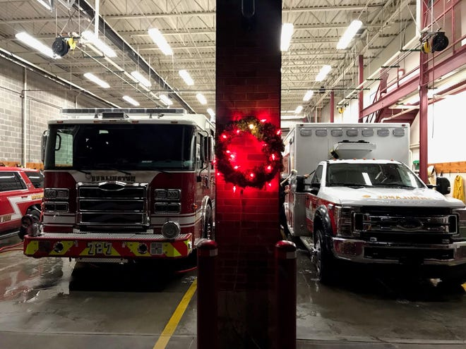 """The Burlington Fire Department will once again participatein a holiday fire awareness program """"Keep the Wreath Red."""" The program is designed to increase fire safety awareness during the holiday season."""