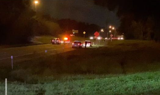 Jacksonville police say one man died and another was injured in a double shooting that ended Friday night at Interstate 295 at Wilson Boulevard on the city's Westside.